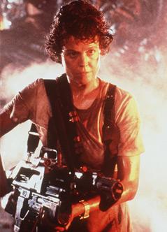 """Ausschnitt aus dem Film """"Aliens - dir Rückkehr"""" mit Sigourney Weaver als  Lieutenant Ripley"""