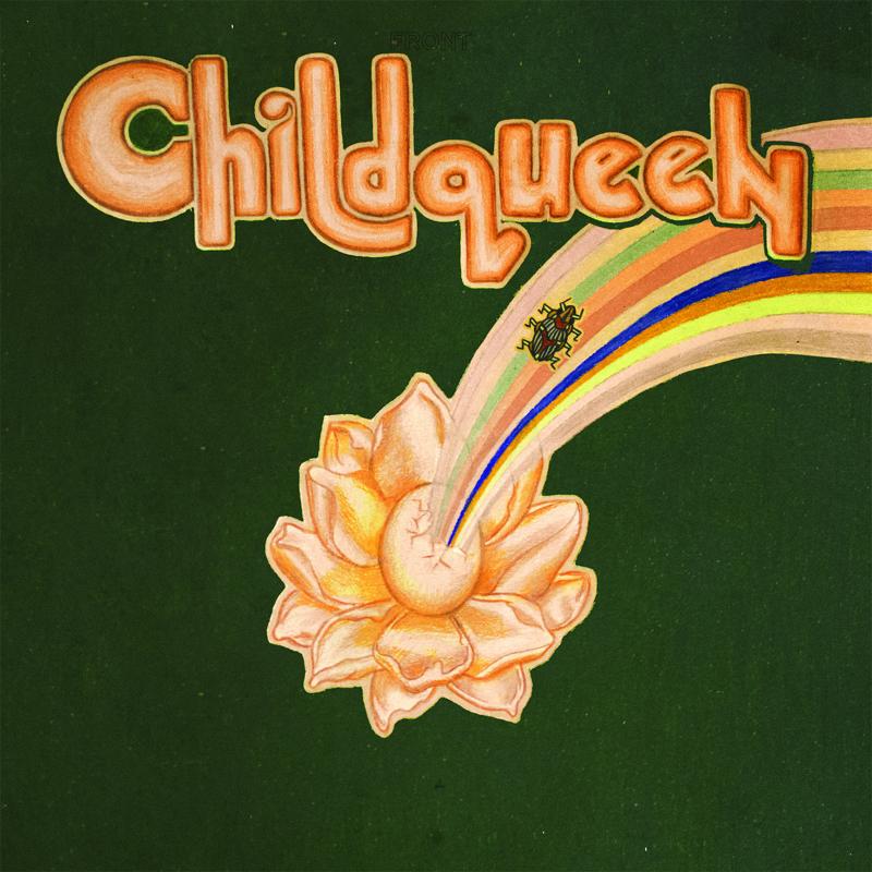 Albumcover mit Regenbogen und einem Käfer