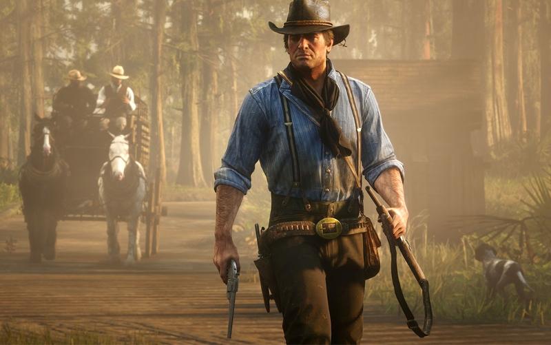 Ein Cowboy schießt