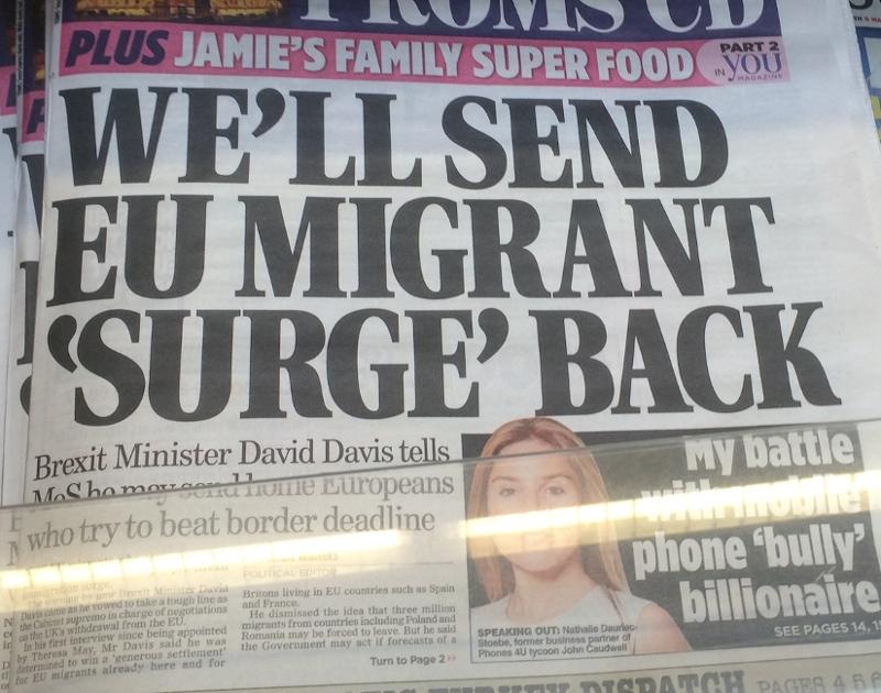 David Davies schickt die Migrantenflut heim. 17.7.16