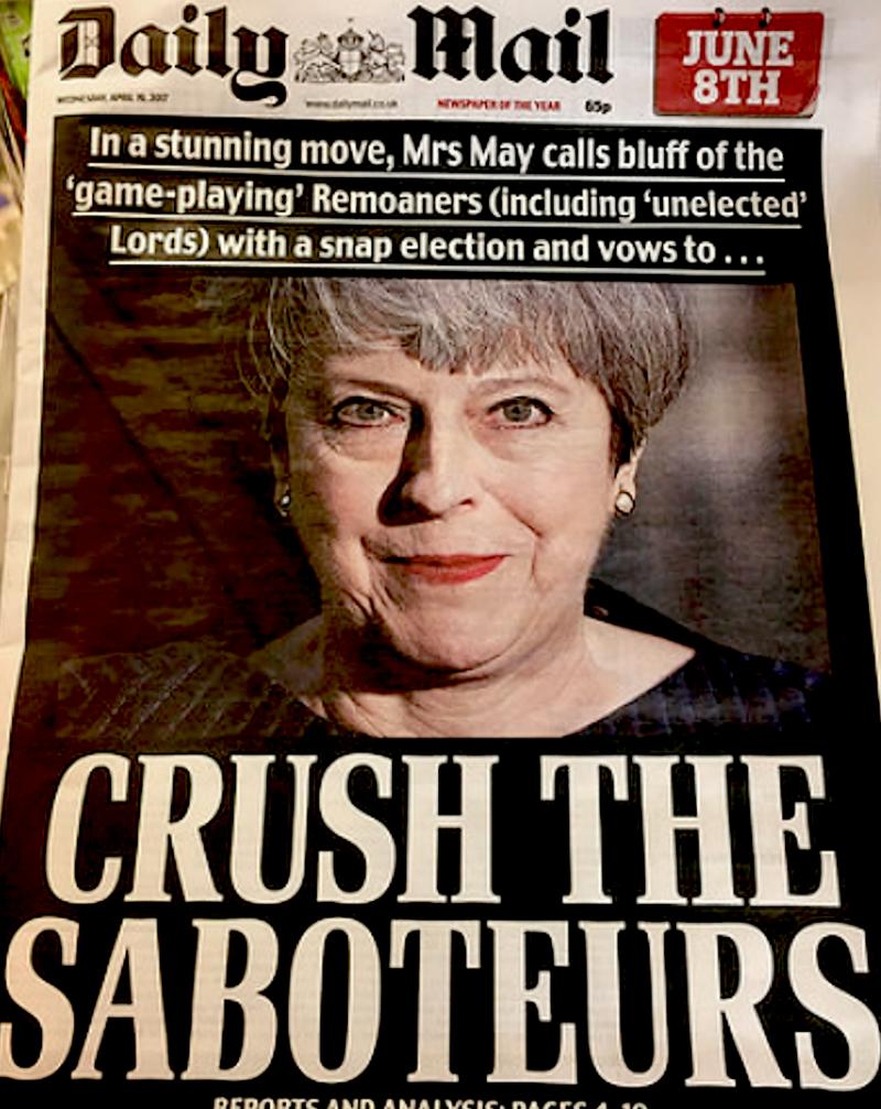 May bedrohlich, ruft Neuwahlen aus.