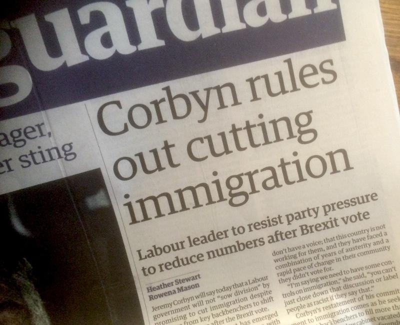 Corbyn, der Guardian und die Migration