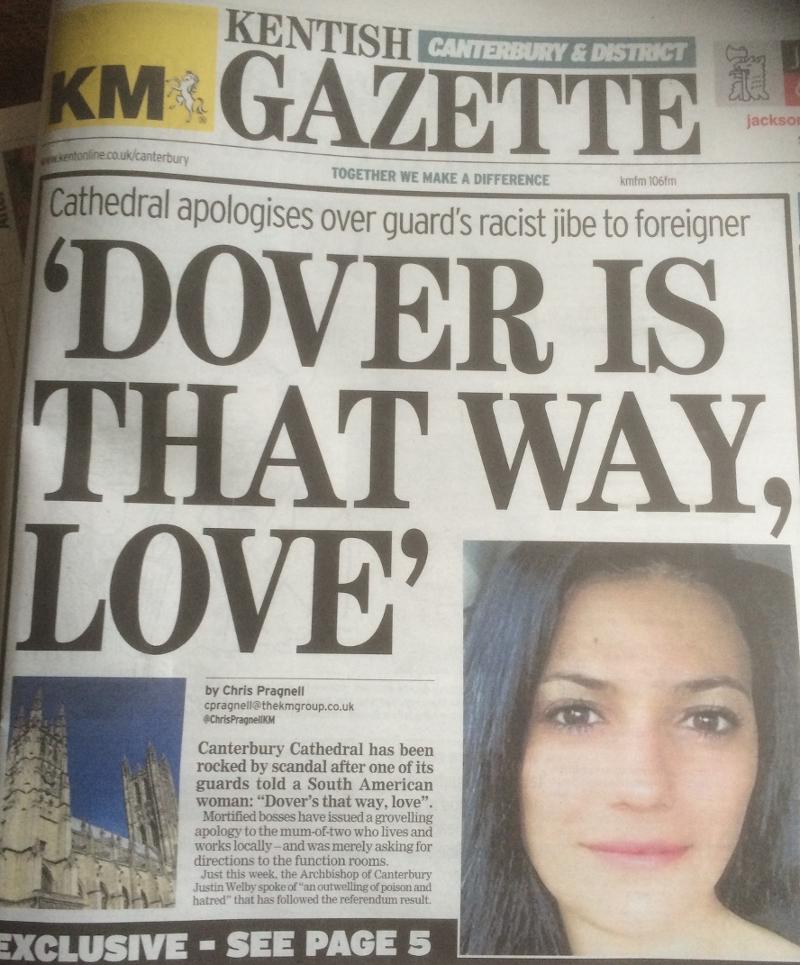 """""""Dover's That Way Love"""", sagt die Kentish Gazette zur aus Argentinien kommenden Tanzlehrerin"""