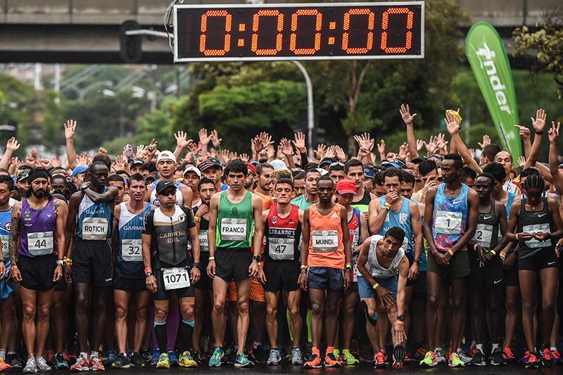 Marathonläufer kurz vor dem Start