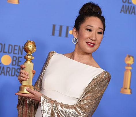 Sandra Oh bei den Golden Globes 2019