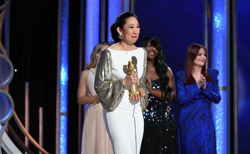 Sandra Oh bei den Golden Globes