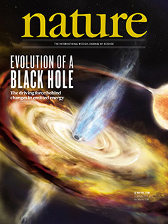 """Cover der Zeitschrift """"Nature"""" vom 10.1.2019"""