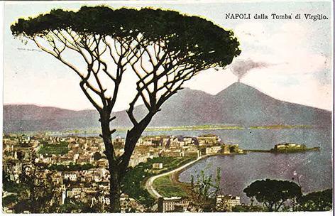 Historische Postkarte aus Neapel