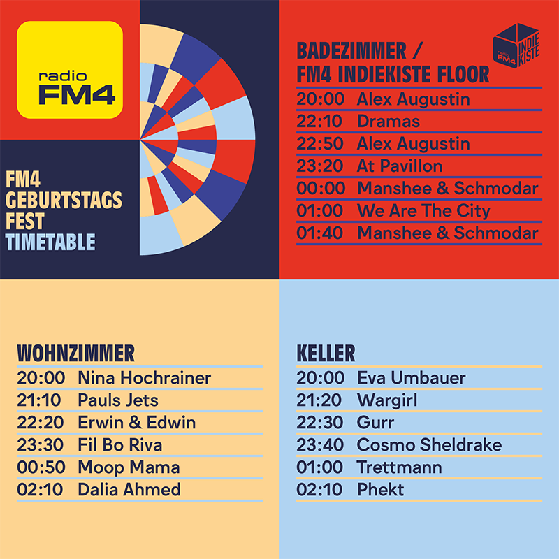 Timetable vom FM4 Geburtstagsfest 2019