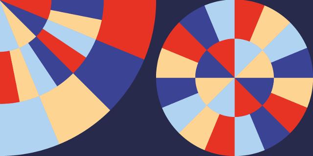 Artwork vom FM4 Geburtstagsfest 2019: Kreise und bunte Farben