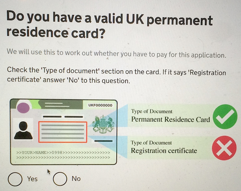 Do you have a residence card?