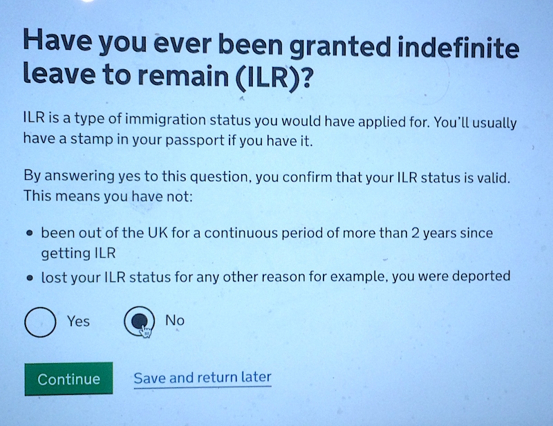 Have you got Indefinite Leave to Remain?
