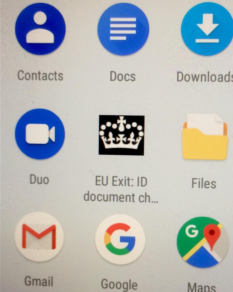 Smartphone Menü Settled Status App