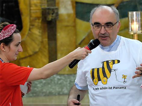 Bischof Wilhelm Krautwaschl beim Weltjugendtag in Panama