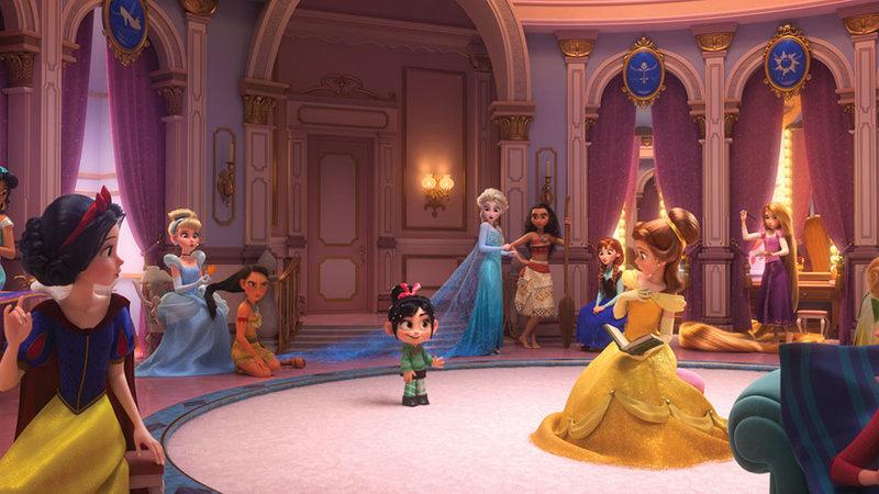 Disney-Prinzessinen im Disney-Tower