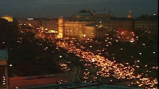 Das Lichtermeer in Wien am 23.1.1993