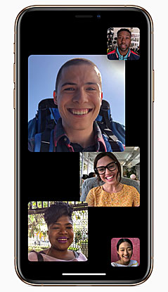 Screenshot Facetime Gruppenanruf