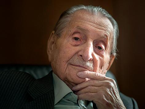 Der Holocaust-Überlebende und Präsident der Israelitischen Kultusgemeinde Salzburg, Marko Feingold