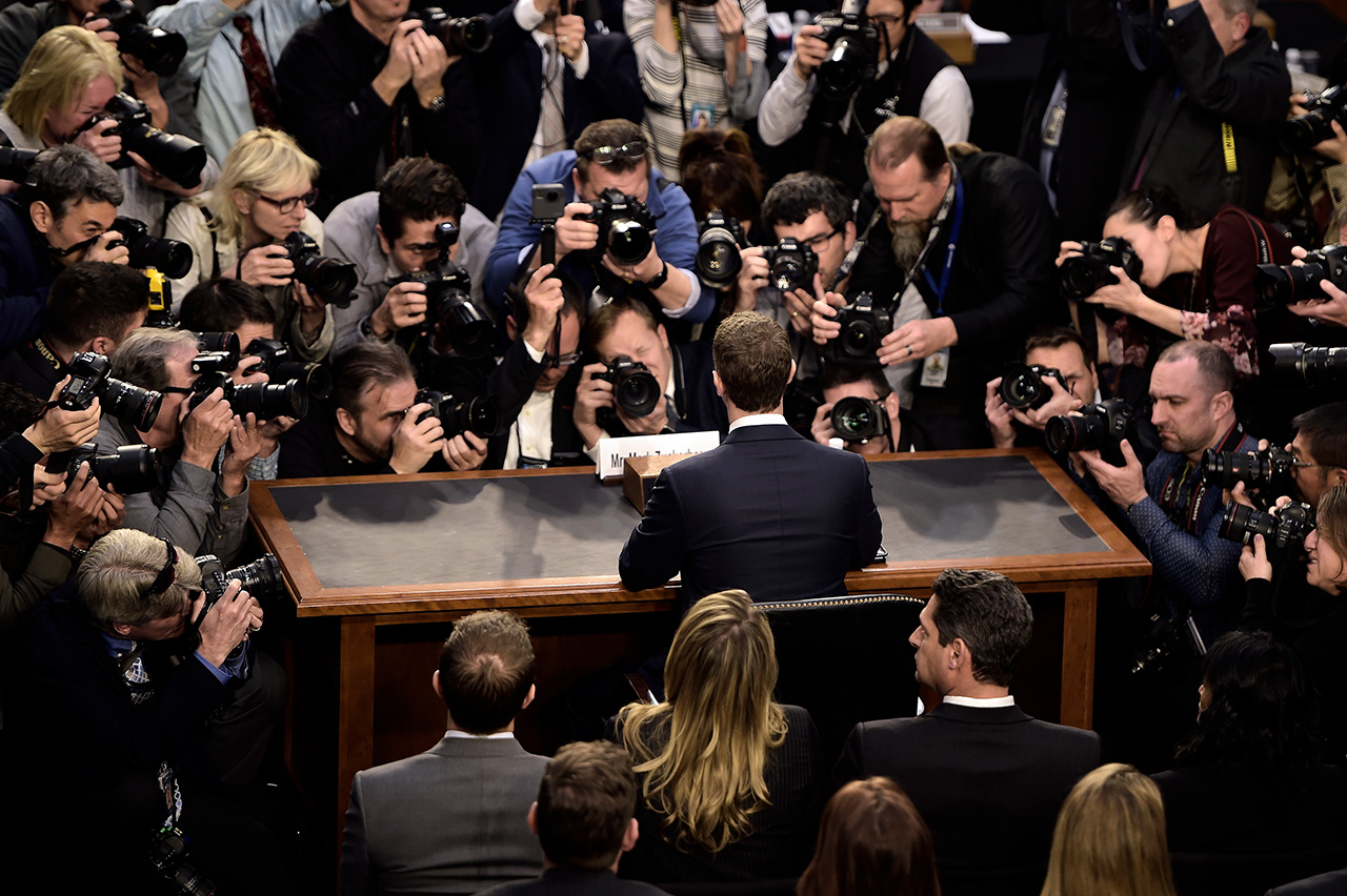 Mark Zuckerberg vor dem Kongress