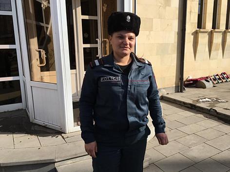 Polizistin Susanna Kakobyan