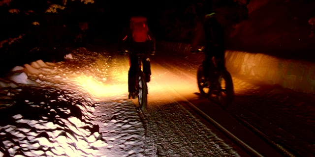 Fat Bike at night