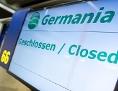 Geschlossener Check-In der insolventen Fluglinie Germania