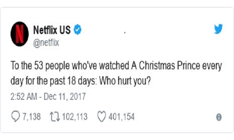Tweet von Netflix
