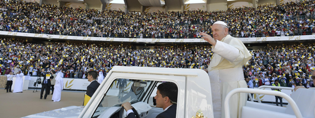 Papst Franziskus Papamobil Abu Dhabi