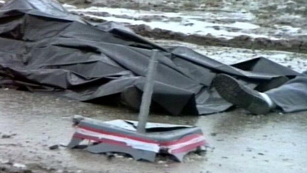 Tatort des Rohrbombenanschlags in Oberwart am Tag danach