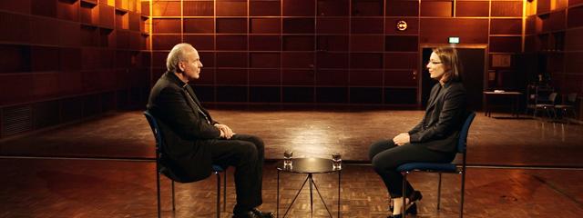 Kardinal Schönborn im Gespräch mit Doris Reisinger (Wagner)