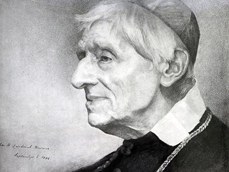 Ein Porträt des englischen Kardinals John Henry Newman.
