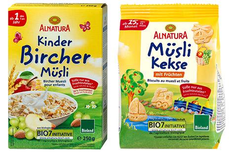 Alnatura Kinder-Bircher-Müsli und Müslikekse