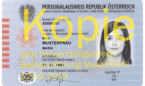 Kopie Personalausweis mit Wasserzeichen
