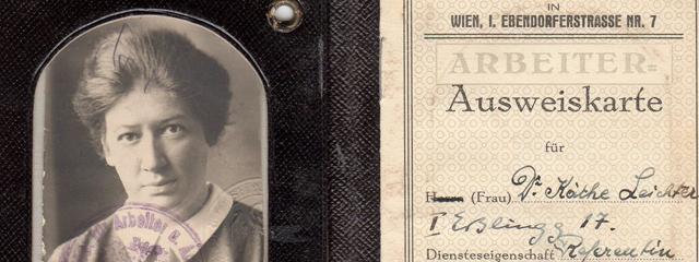 Käthe Leichters Ausweiskarte der AK