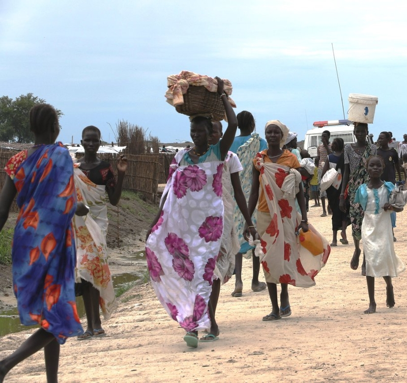 People walking in South Sudan
