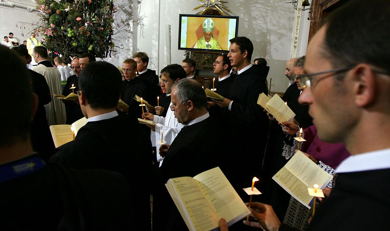 Messe in Mariazell während des Besuchs von Papst Benedikt XVI 2007