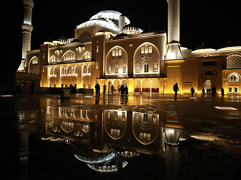 Die Camlica-Moschee in Istanbul