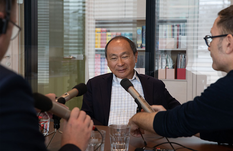 Francis Fukuyama beim Interview in Wien