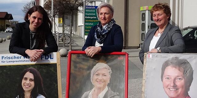 Drei Bürgermeister-Kandidatinnen Kaltenegger, Widmann und Pabinger