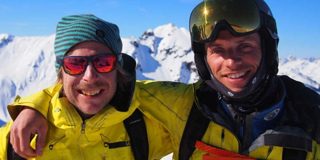 Bergführer Toni Moßhammer und Guido Unterwurzacher