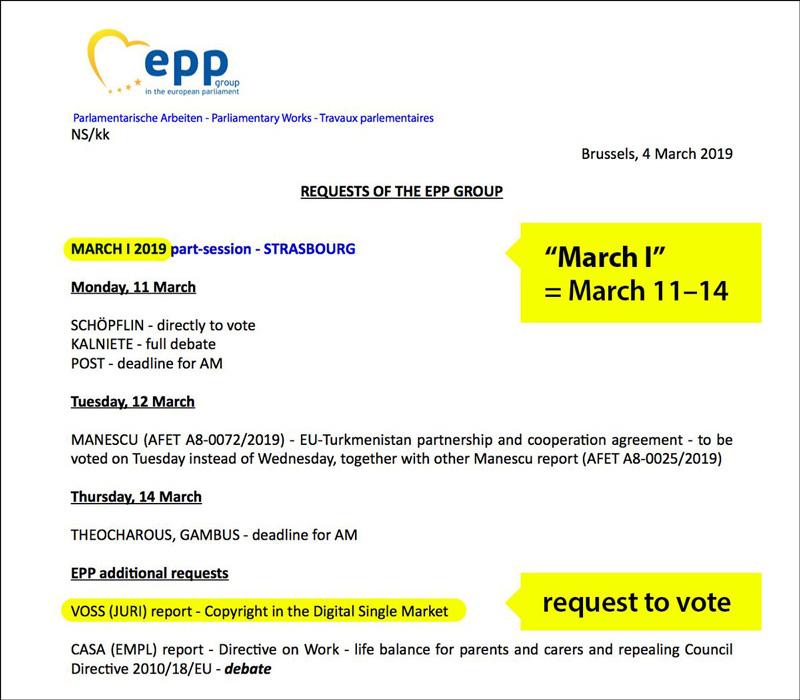 Beschluss der EPP