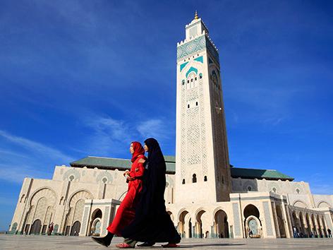 Die Hassan-II.-Moschee in Casablanca, Marokko