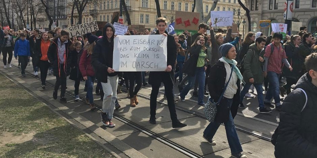 Fridays For Future Demo in Wien
