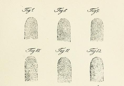 Historischer Fingerabdruck