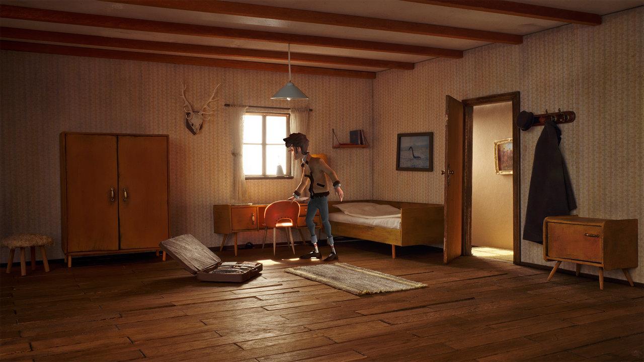"Szene aus ""Trüberbrook"": Hotelzimmer"