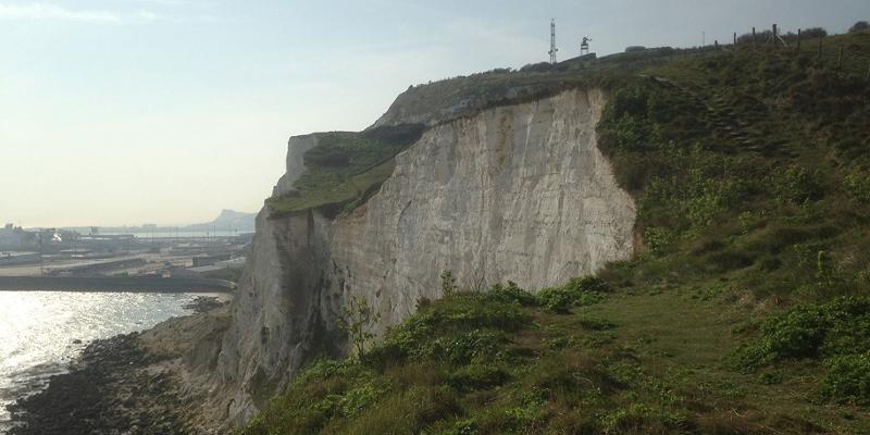 Weiße Felsen an der britischen Küste