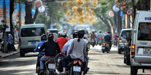 Straße in Hanoi, Vietnam