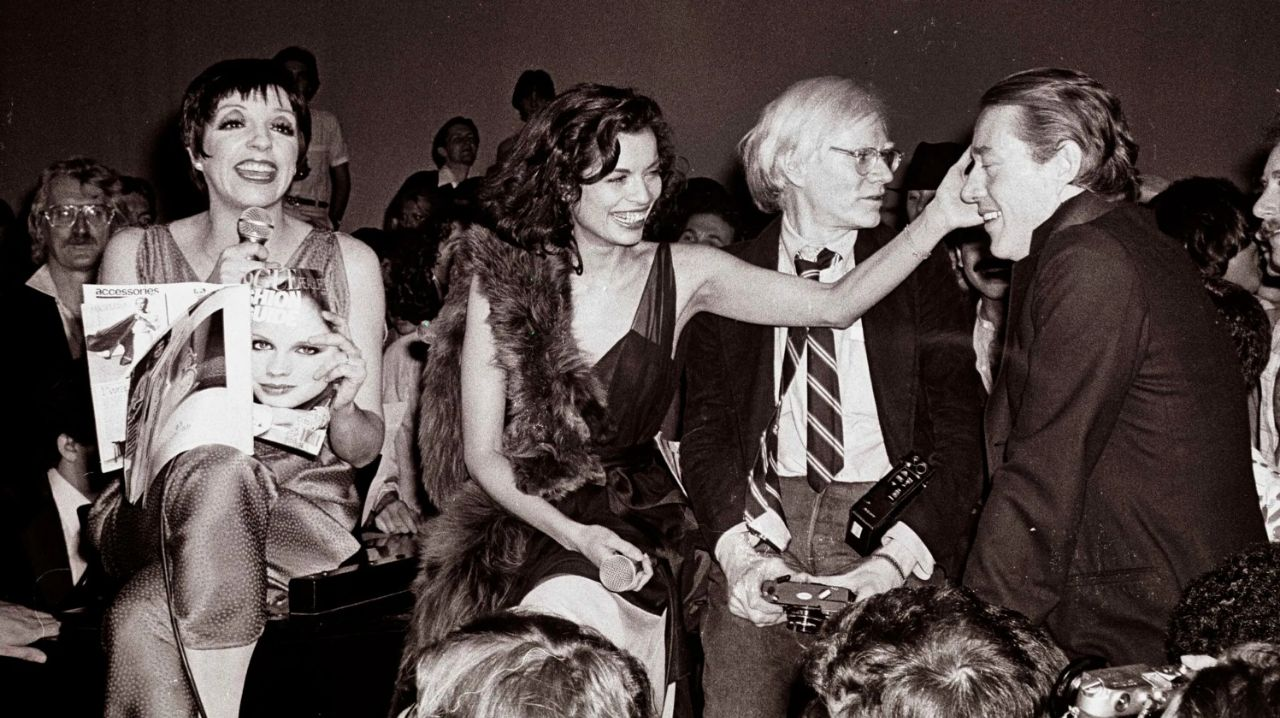 "Liza Minelli, Bianca Jagger und Andy Warhol im ""Studio 54"""