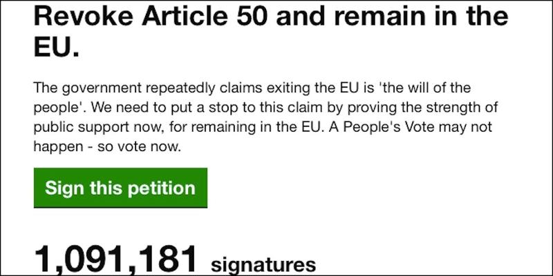 Screenshot Petition