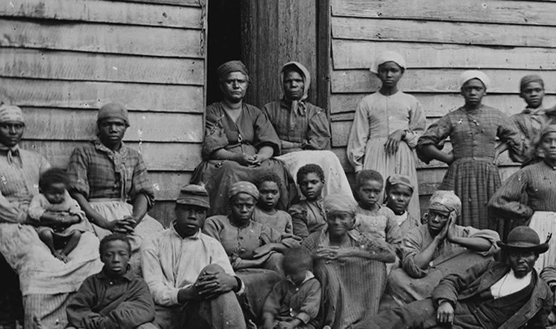 """Sklavinnen auf einer Baumwollplantage, South Carolina 1862"""""""